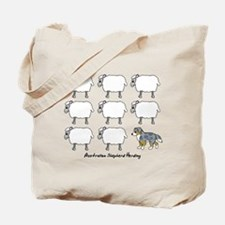 Cartoon Australian Shepherd Herding Tote Bag