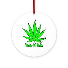 Wake N Bake Ornament (Round)