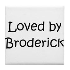 Cute Broderick Tile Coaster