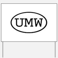 UMW Oval Yard Sign