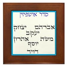 Sukkah Ushpizin Framed Tile for your Sukkah