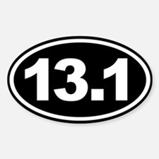 13.1 Half Marathon Oval Euro Sticker Black