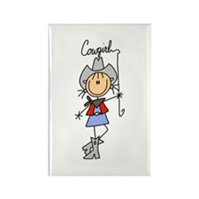 Cowgirl Rectangle Magnet (10 pack)