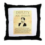 Joe Mason Throw Pillow