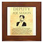 Joe Mason Framed Tile
