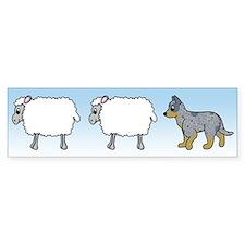 Cartoon Blue Heeler Herding Bumper Bumper Bumper Sticker