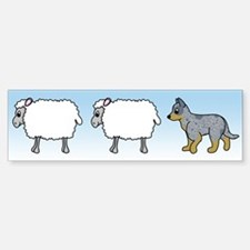 Cartoon Blue Heeler Herding Bumper Bumper Bumper Sticker