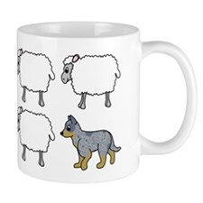 Cartoon Blue Heeler Herding Mug