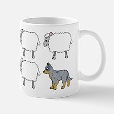 Cartoon Blue Heeler Herding Mug