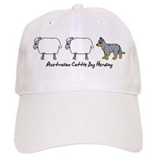 Cartoon Blue Heeler Herding Baseball Cap