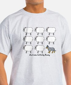 Cartoon Blue Heeler Herding T-Shirt