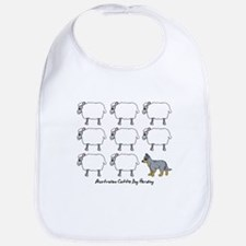 Cartoon Blue Heeler Herding Bib