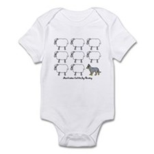 Cartoon Blue Heeler Herding Infant Bodysuit