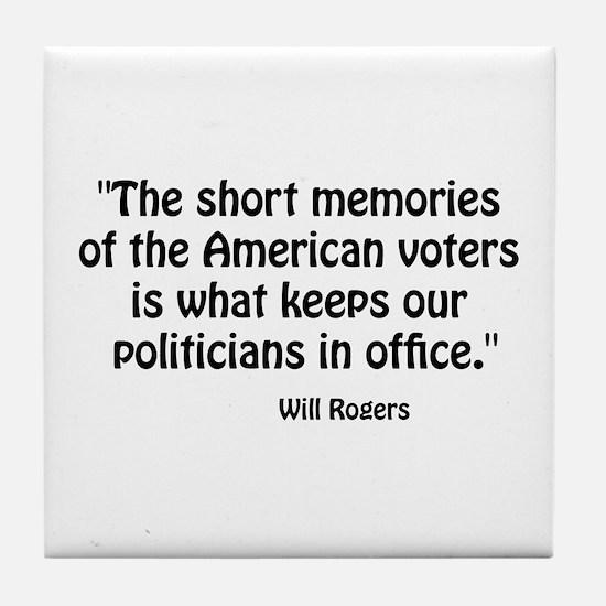 Politicians Tile Coaster