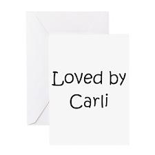 Cute Carli Greeting Card