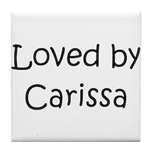 Funny Carissa Tile Coaster