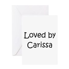Unique Carissa Greeting Card
