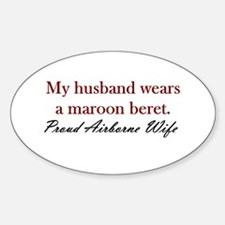Husband Maroon Beret Oval Decal