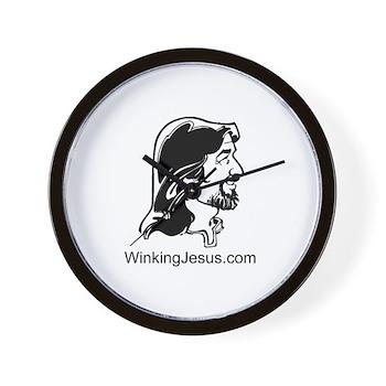 Winking Jesus Wall Clock