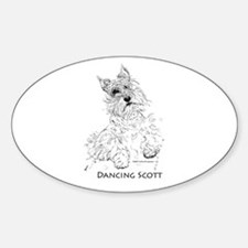 Dancing Scott Oval Decal