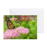 Monarch butterfly birthday Greeting Cards