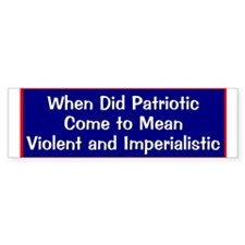 anti-bush anti-war patriotic Bumper Bumper Sticker