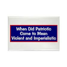 anti-war anti-bush patriotic Rectangle Magnet