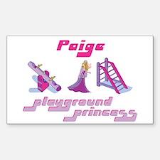 Paige - Playground Princess Rectangle Decal