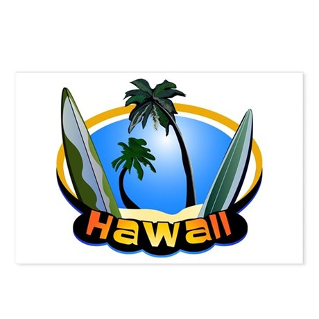 Hawaii Surf and Sand Retro Postcards (Package of 8