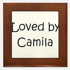 Unique Camila Framed Tile