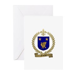 NADEAU Family Crest Greeting Cards (Pk of 10)