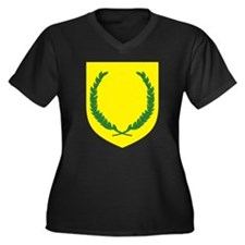 SCA Women's Plus Size V-Neck Dark T-Shirt