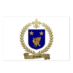 NADEAU Family Crest Postcards (Package of 8)