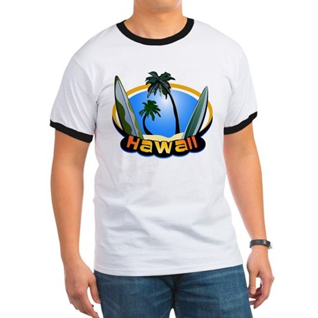 Hawaii Surf and Sand Retro Ringer T