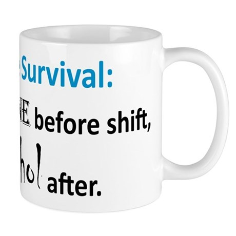 """Nurse Survival"" On Back of Mug"
