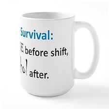 """""""Nurse Survival"""" On Back of Mug"""