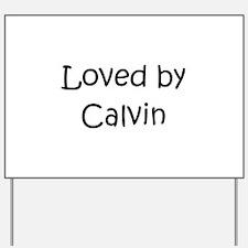 Unique Calvin Yard Sign