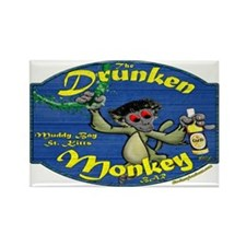 Drunken Monkey Rectangle Magnet