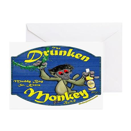 Drunken Monkey Greeting Cards (Pk of 10)