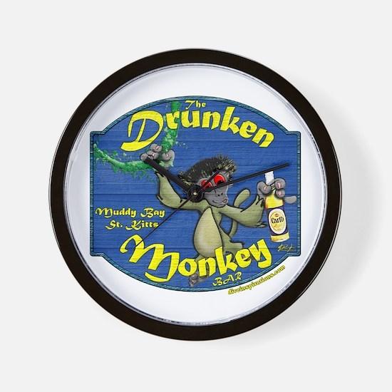 Drunken Monkey Wall Clock