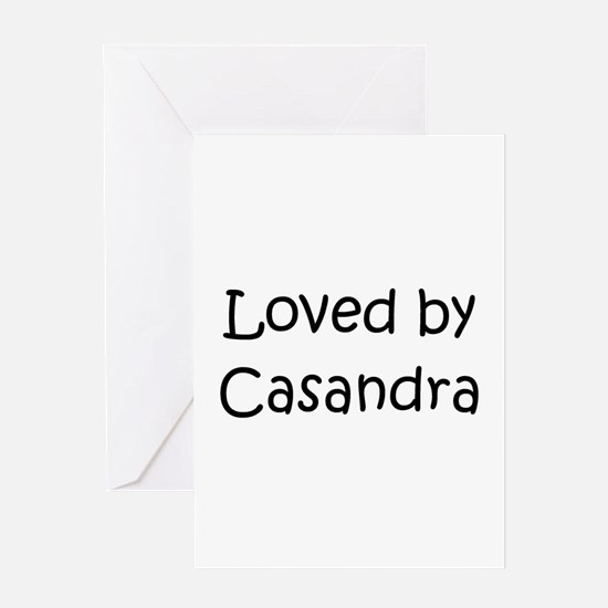 Cute Casandra Greeting Card