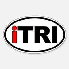 iTRI Ironman Triathlon Oval Euro Decal