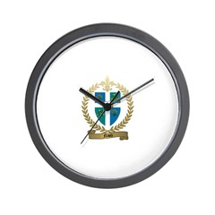 NAUD Family Crest Wall Clock