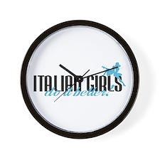 Italian Girls Do It Better! Wall Clock