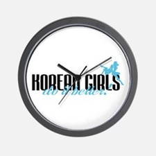 Korean Girls Do It Better! Wall Clock