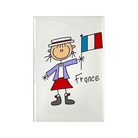 France Ethnic Rectangle Magnet (10 pack)