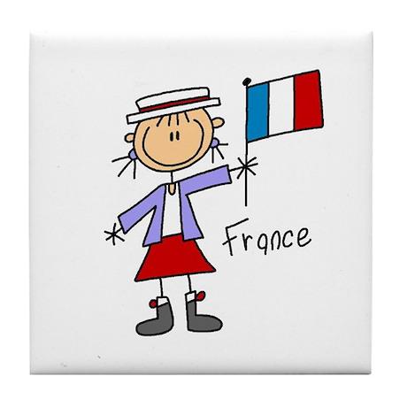 France Ethnic Tile Coaster