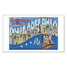Philadelphia PA Rectangle Decal