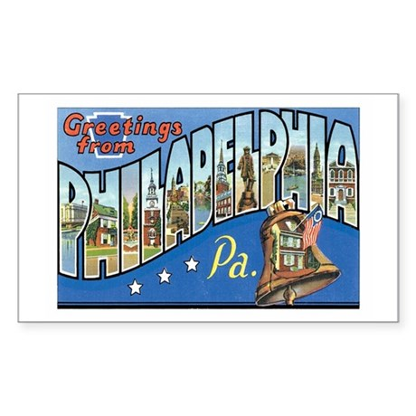 Philadelphia PA Rectangle Sticker