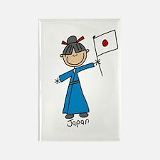 Japan Ethnic Rectangle Magnet